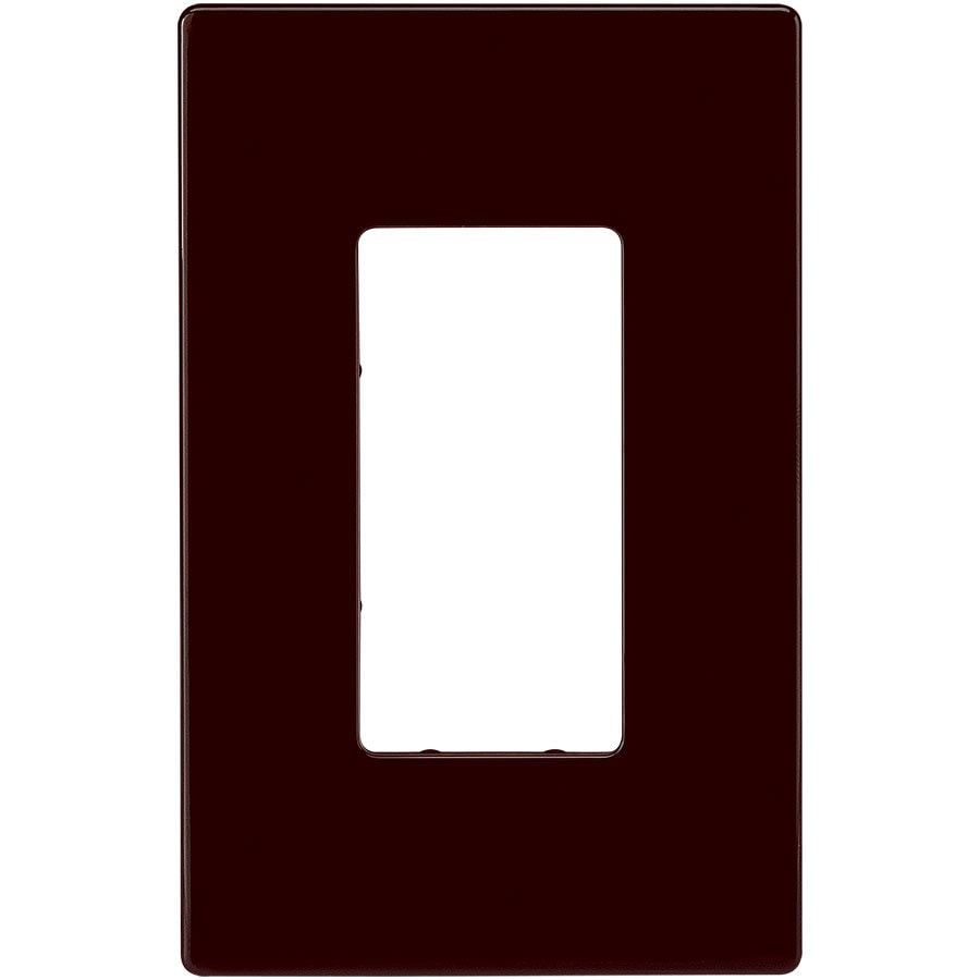 Eaton 1-Gang Brown Single Decorator Wall Plate
