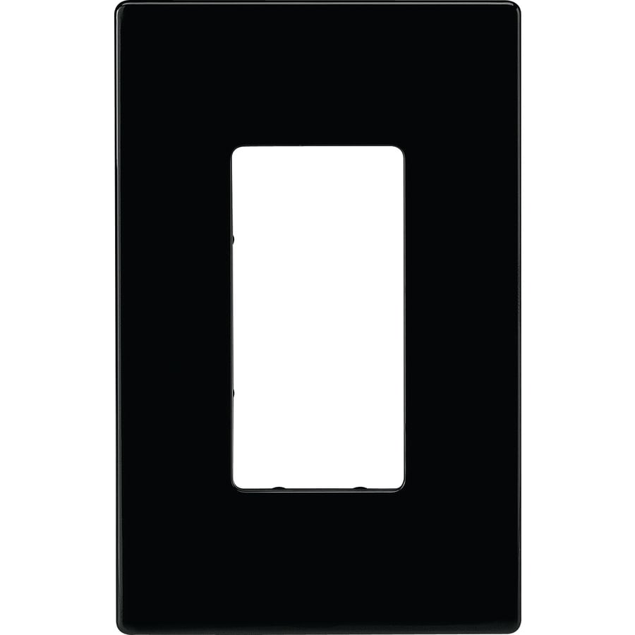 Cooper Wiring Devices 1-Gang Black Decorator Duplex Receptacle Nylon Wall Plate