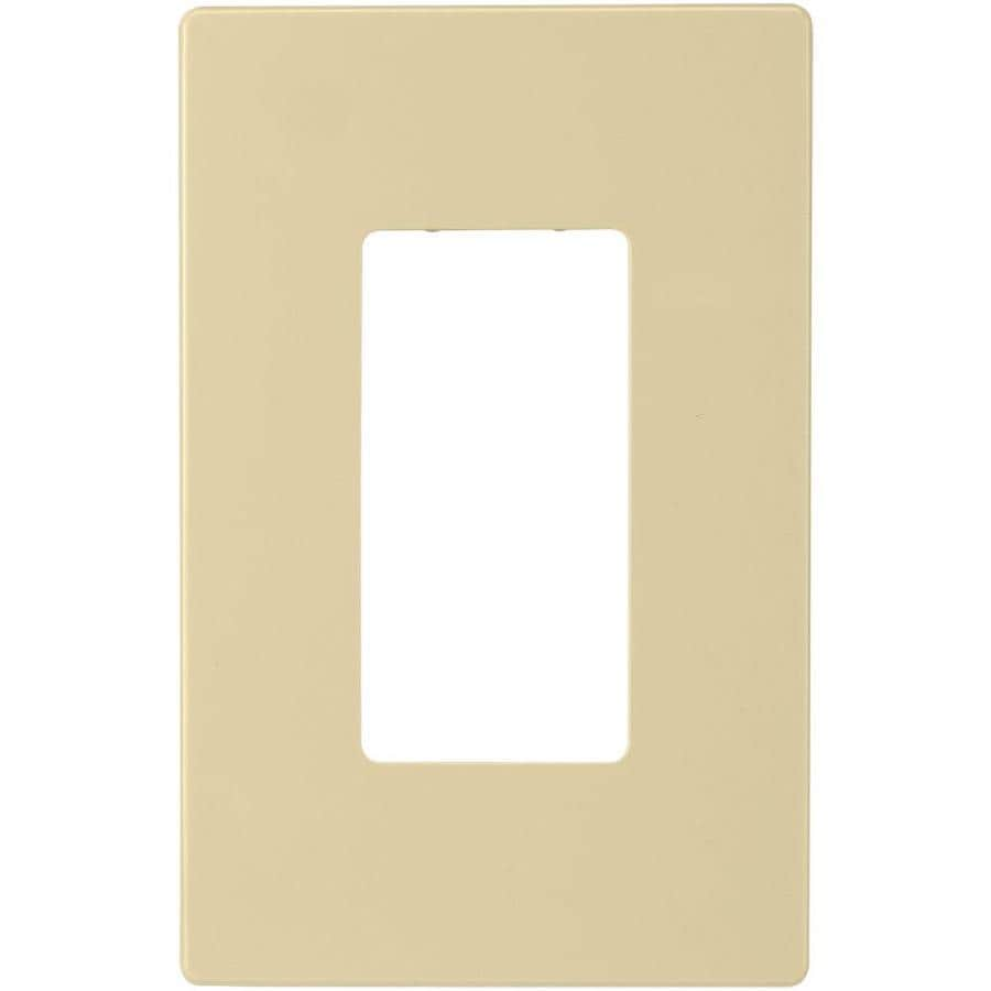 Eaton 1-Gang Ivory Single Decorator Wall Plate
