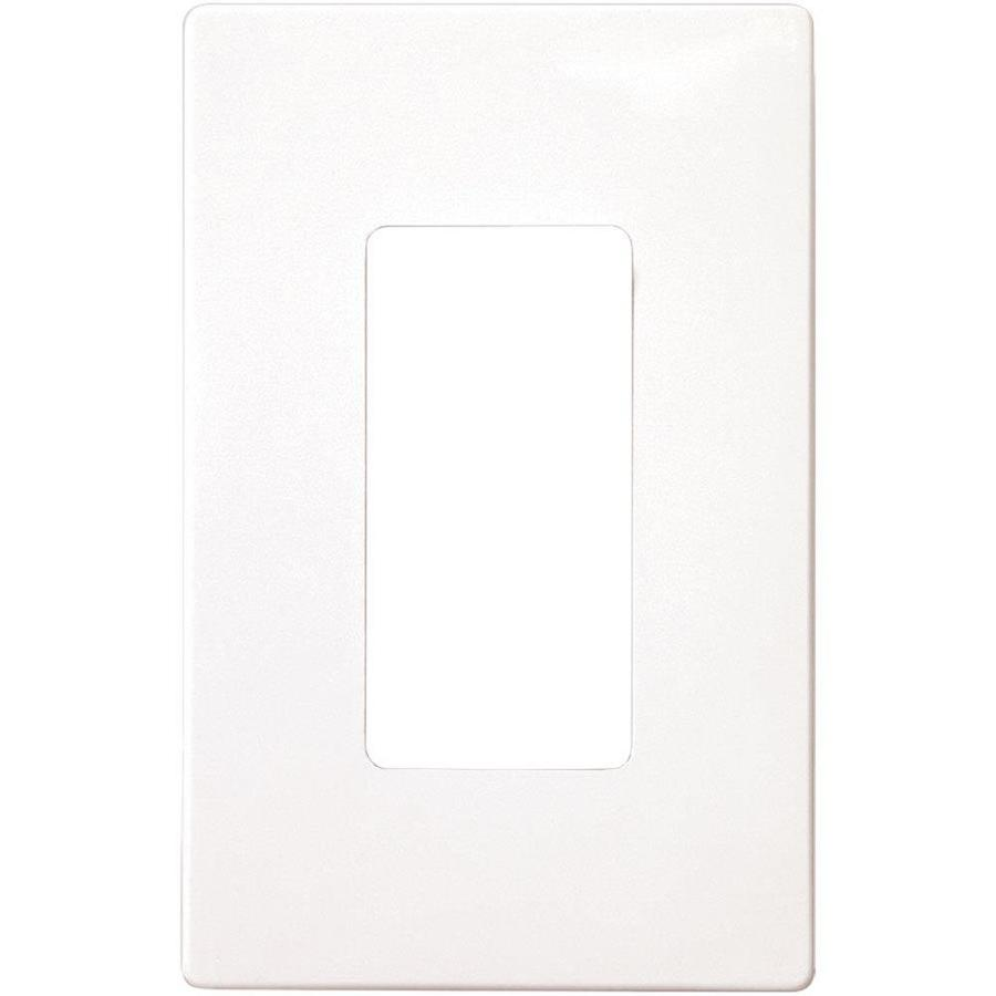 Shop Wall Plates At Help Requested For Changing Double Switch To Two Singles Electrical Eaton 1 Gang White Single Decorator Plate