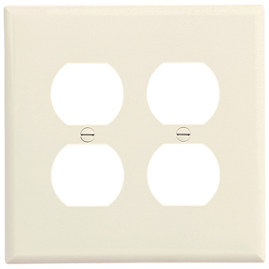 Cooper Wiring Devices 1-Gang Almond Combination Nylon Wall Plate
