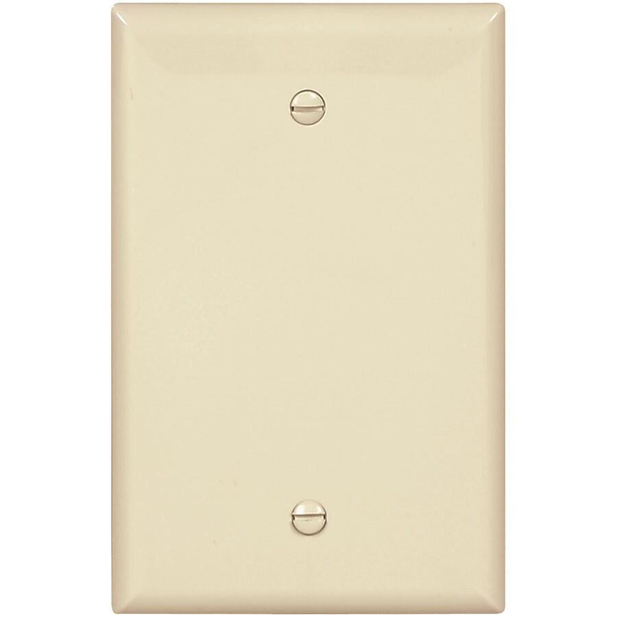 Eaton 1-Gang Almond Single Blank Wall Plate