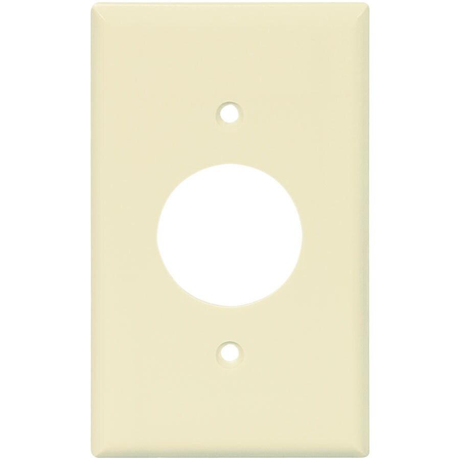 Eaton 1-Gang Almond Single Round Wall Plate
