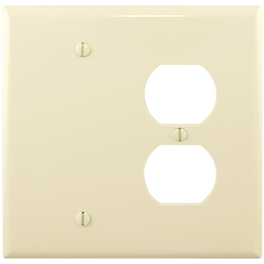 Eaton 2-Gang Almond Wall Plate