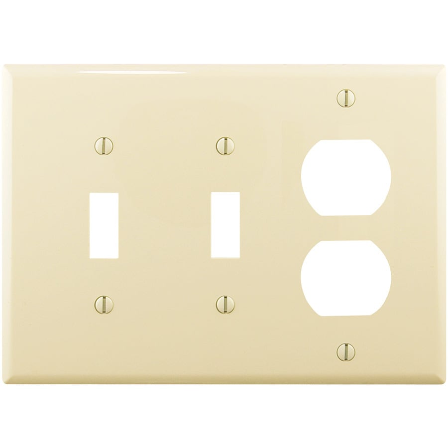 Eaton 3-Gang Almond Wall Plate
