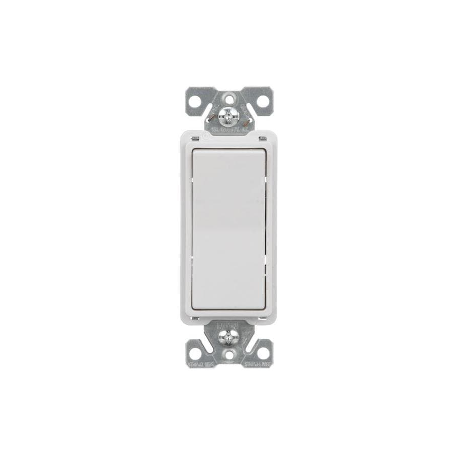 Shop Eaton 15-amp Single Pole 4-way White Rocker Light Switch at ...