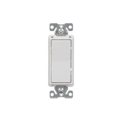 15-Amp 4-Way White Rocker Residential Light Switch on