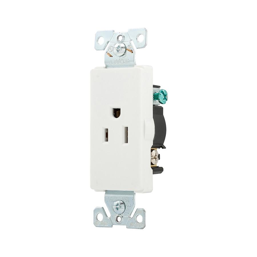 Shop Cooper Wiring Devices 15-Amp 125-Volt White Duplex at Lowes.com