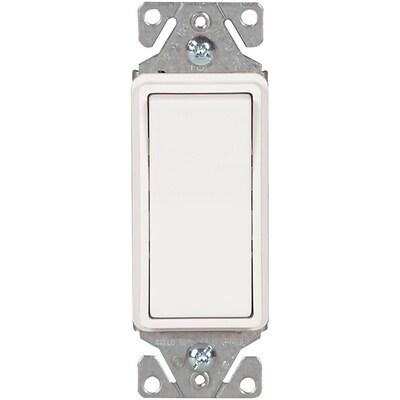 Rocker Light Switch >> 15 Amp Single Pole White Rocker Illuminated Residential Light Switch