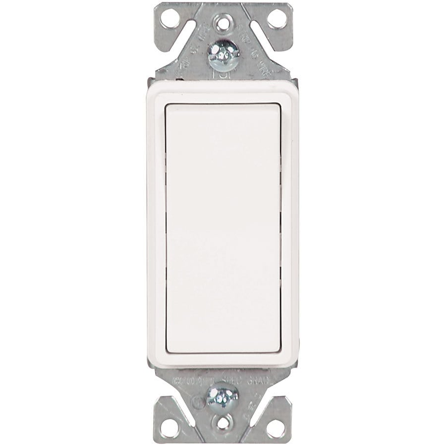 Eaton 15-amp 3-way White Rocker Light Switch