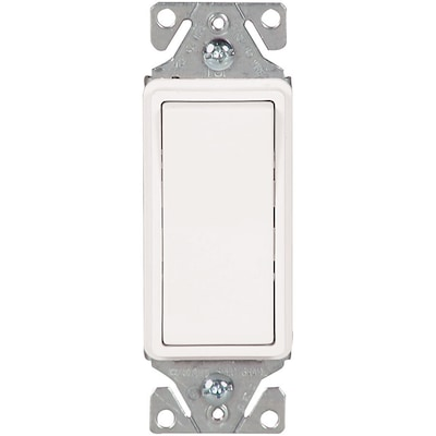 15-amp 3-way White Rocker Illuminated Residential Light Switch on
