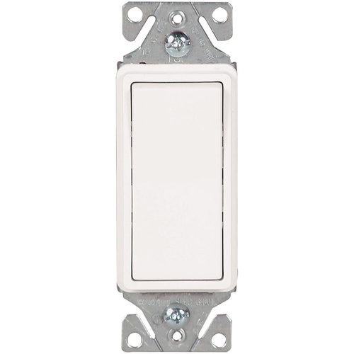 Rocker Light Switch >> Eaton 15 Amp 3 Way White Rocker Illuminated Residential Light Switch At Lowes Com
