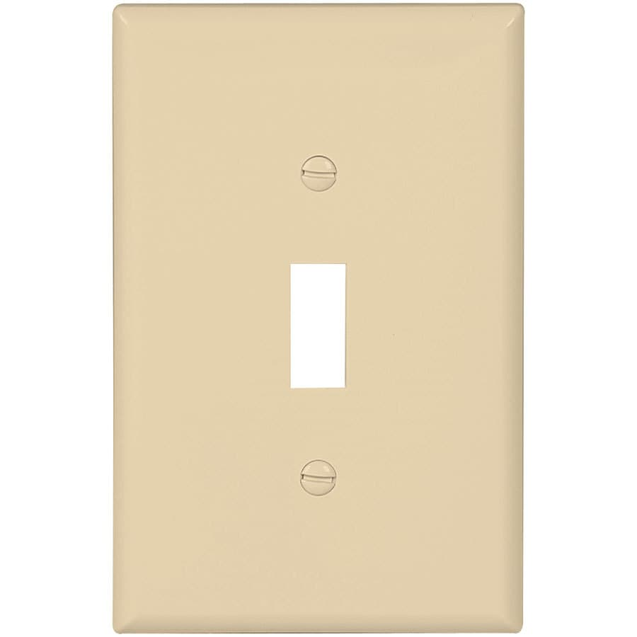 Eaton 10 Pack 1 Gang Ivory Single Midsize Wall Plate At