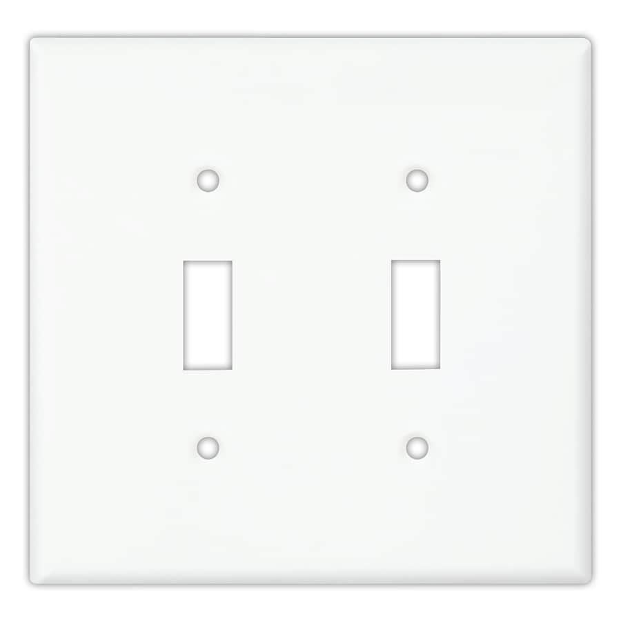Cooper Wiring Devices 10-Pack 2-Gang White Toggle Wall Plates