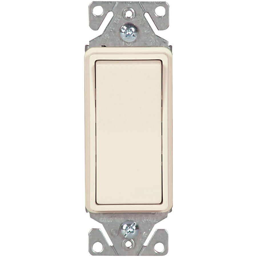 Eaton 15-Amp Single Pole Light Almond Indoor Rocker Light Switch