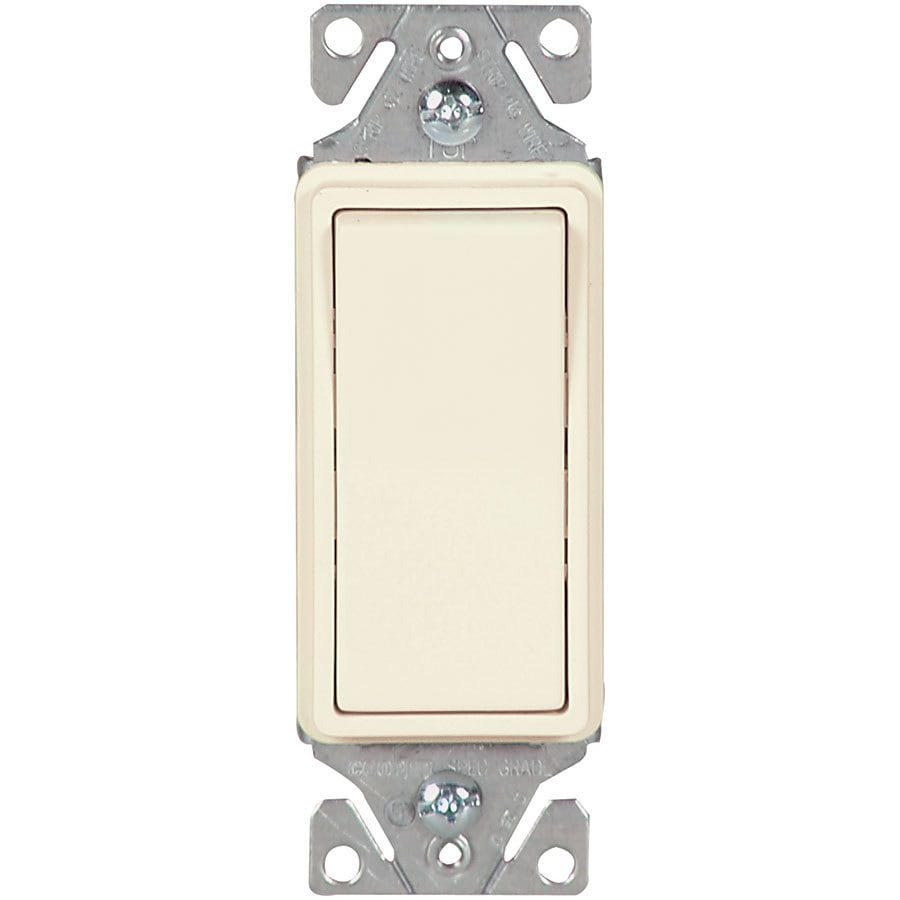 Eaton 15-Amp Single Pole 3-Way Light Almond Indoor Rocker Light Switch