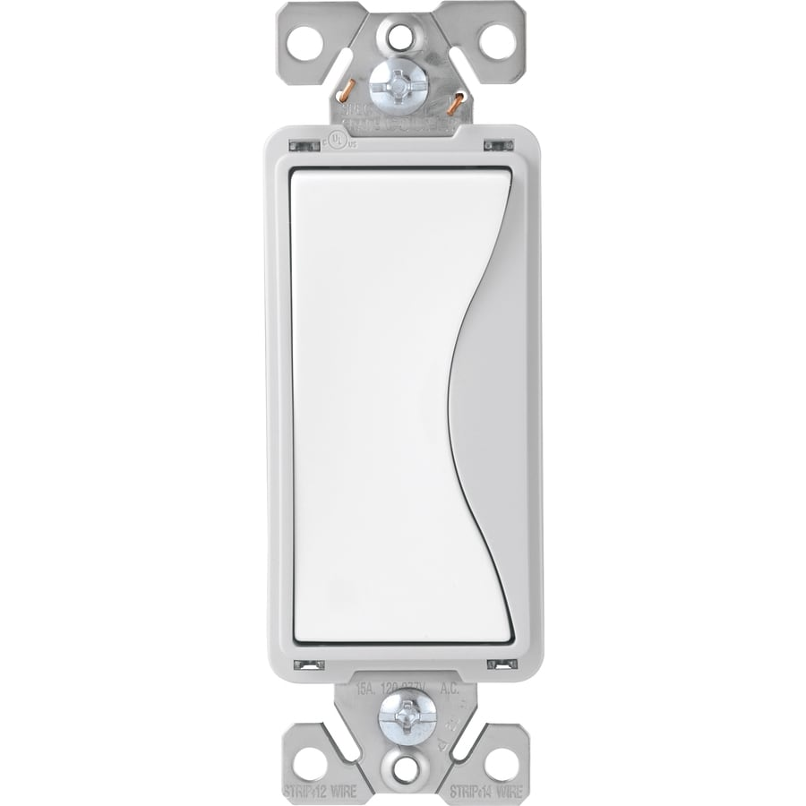 Shop Cooper Wiring Devices 4 Way White Satin Light Switch At Schematic