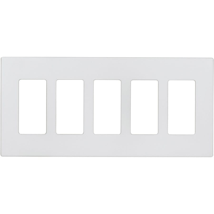 Eaton Aspire 5-Gang Silver Granite Screwless Decorator Wall Plate