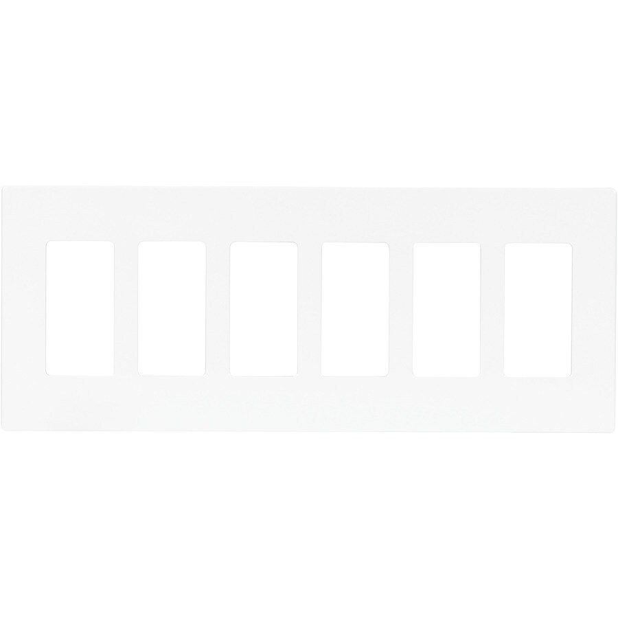 Eaton Aspire 6-Gang White Satin Decorator Wall Plate