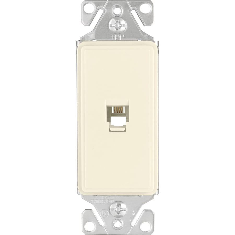 Cooper Wiring Devices 1-Gang Desert Sand Phone Wall Plate