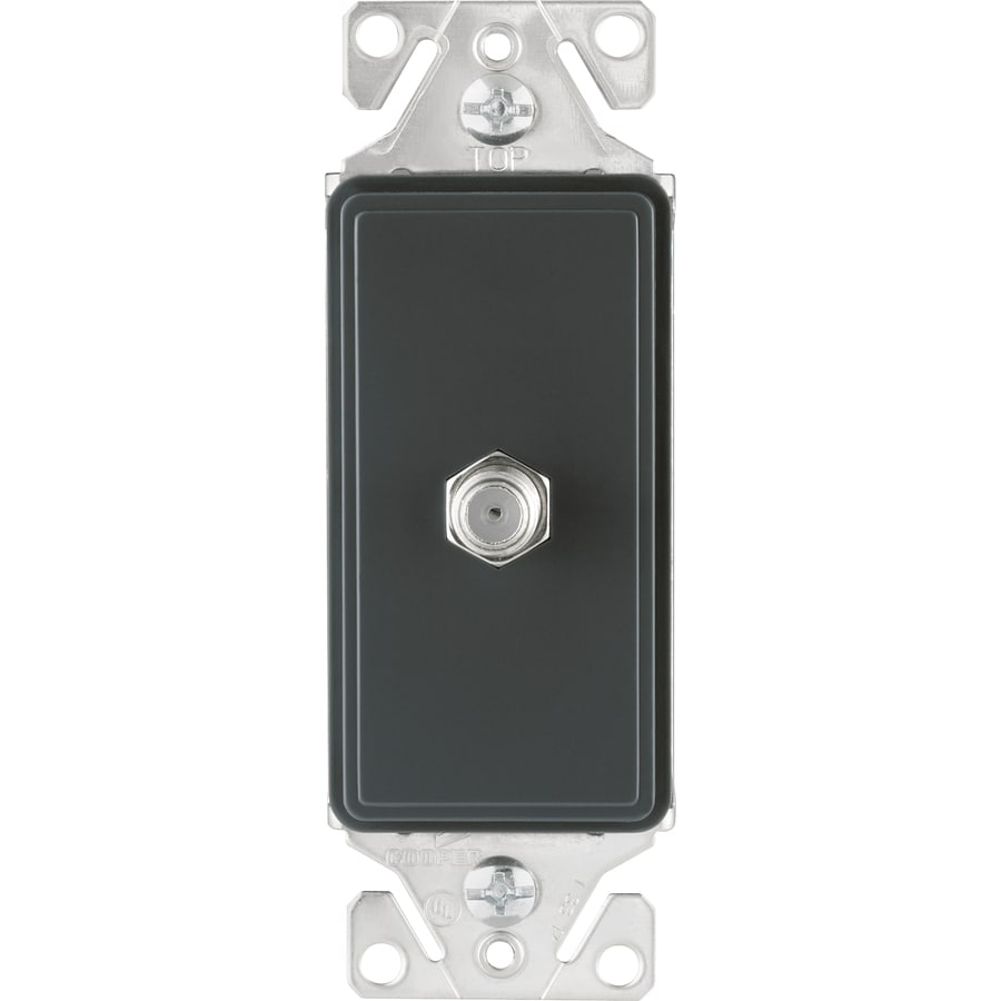 Cooper Wiring Devices 1-Gang Silver Granite Coaxial Wall Plate