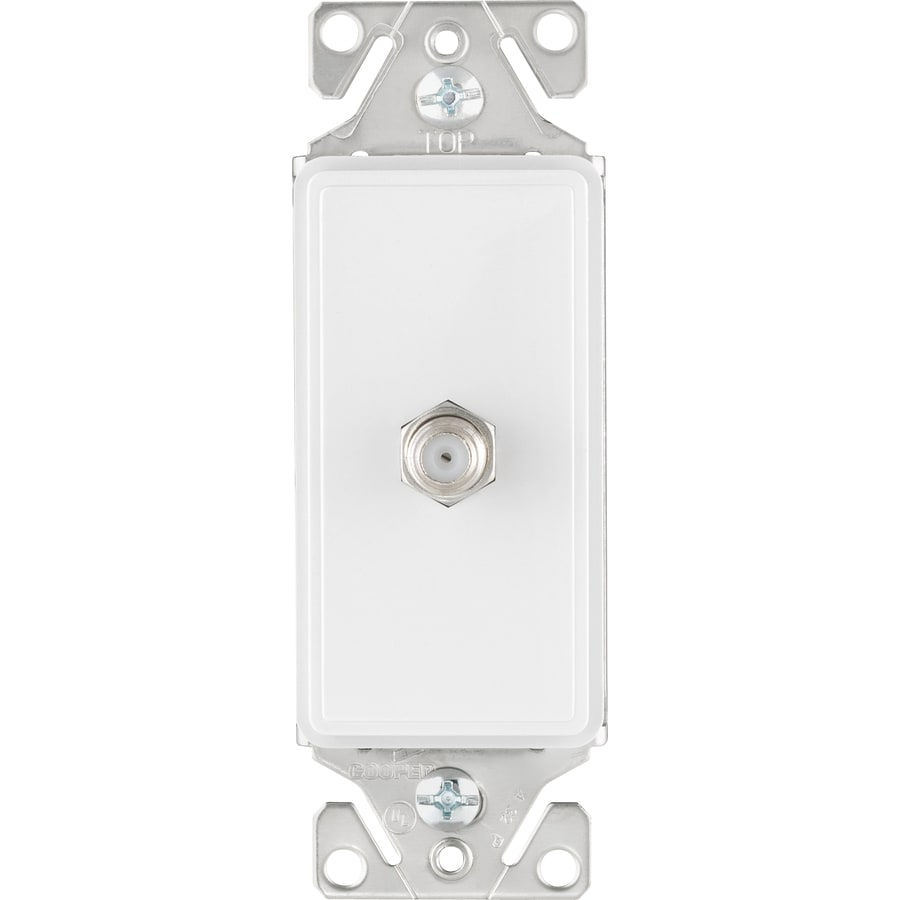 Amazing Cooper Wiring Devices 1 Gang White Satin Coaxial Wall Plate At Lowes Com Wiring 101 Swasaxxcnl