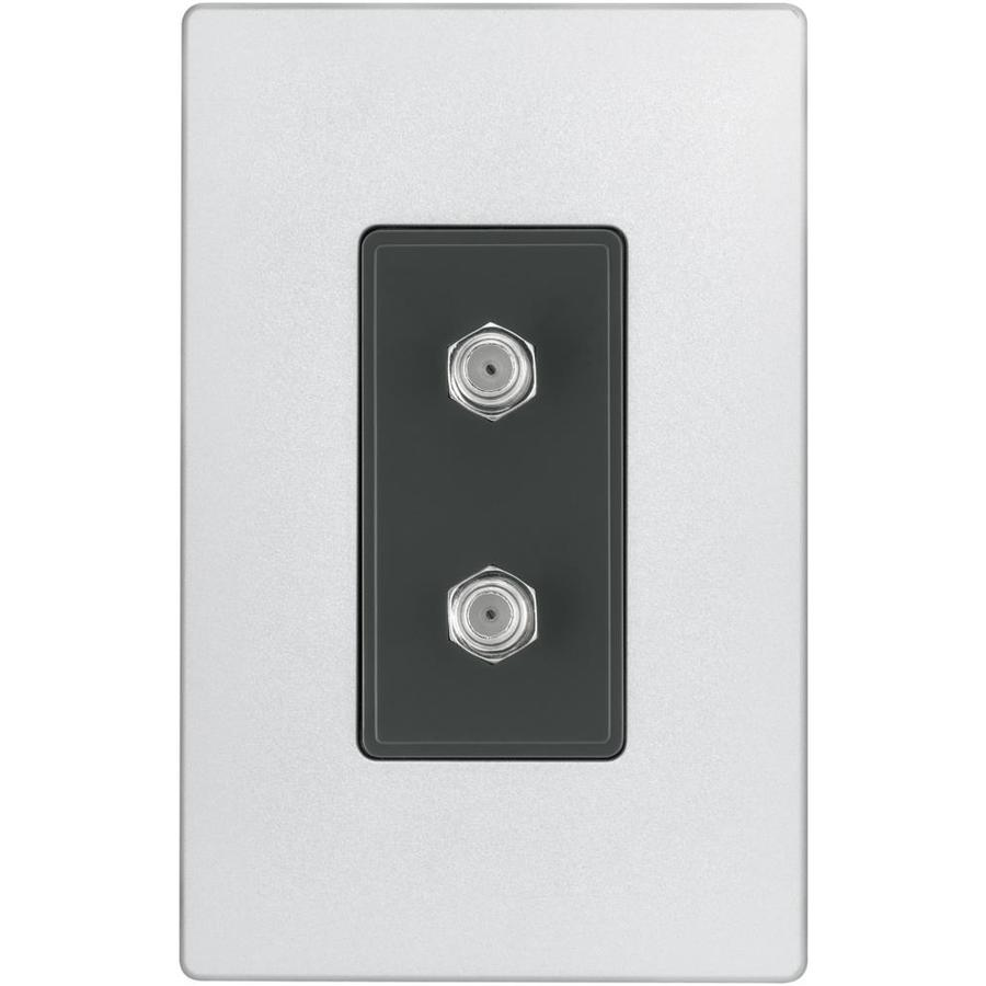 Eaton Aspire 1-Gang Silver Granite Coaxial Wall Plate