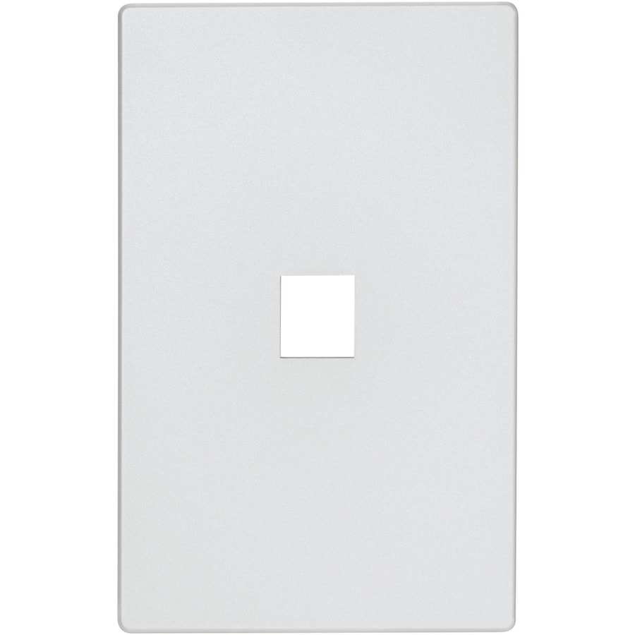Eaton Aspire 1-Gang Silver Granite Screwless Wall Plate