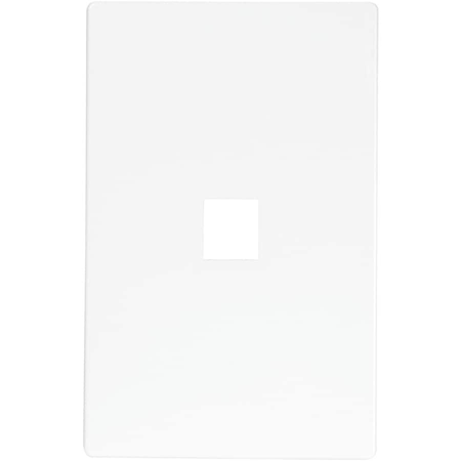 Eaton Aspire 1-Gang White Satin Wall Plate