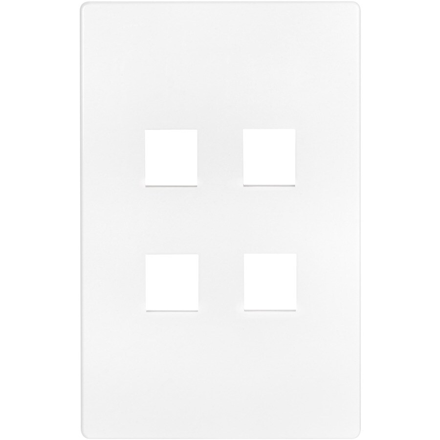 Eaton Aspire 1-Gang White Satin Screwless Wall Plate
