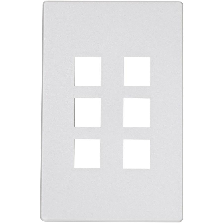 Eaton Aspire 1-Gang Silver Granite Screwless Wall Plate