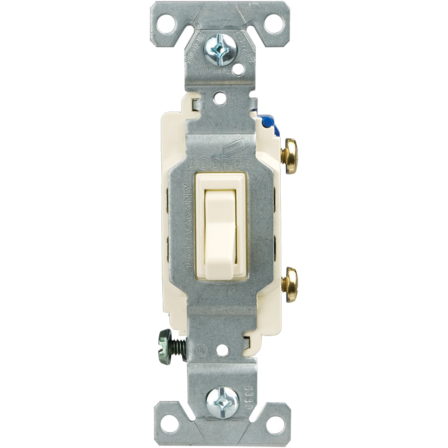 Eaton 15-Amp Single Pole Light Almond Toggle Indoor Light Switch