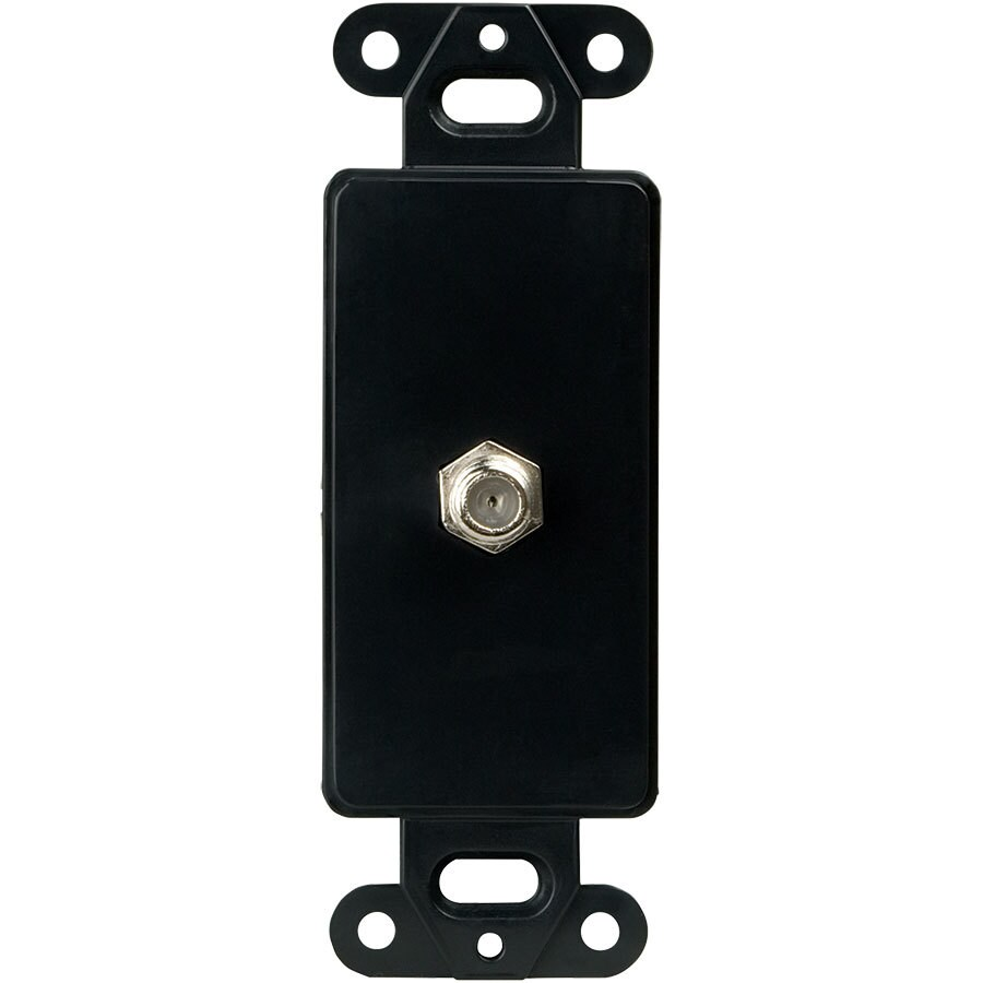 Eaton 1-Gang Black Single Decorator Coaxial Wall Plate Insert Adapter