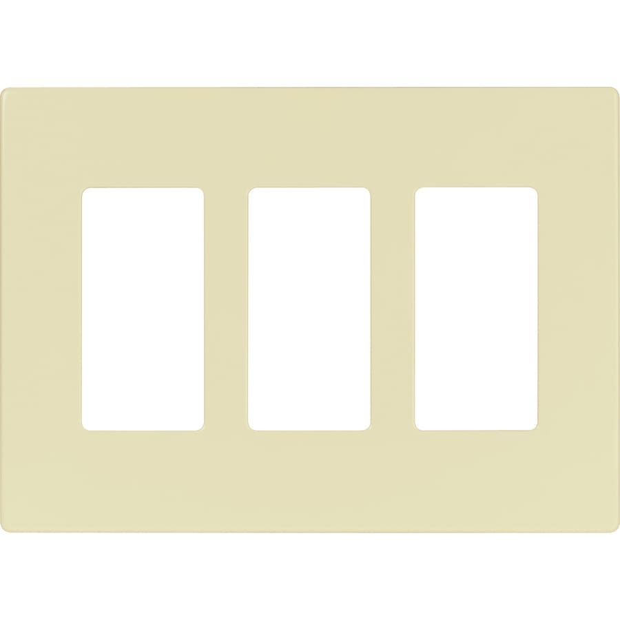 Cooper Wiring Devices 3-Gang Almond Round Wall Plate