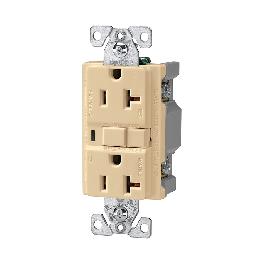 Shop Cooper Wiring Devices 20-Amp 125-Volt Ivory GFCI Decorator at ...