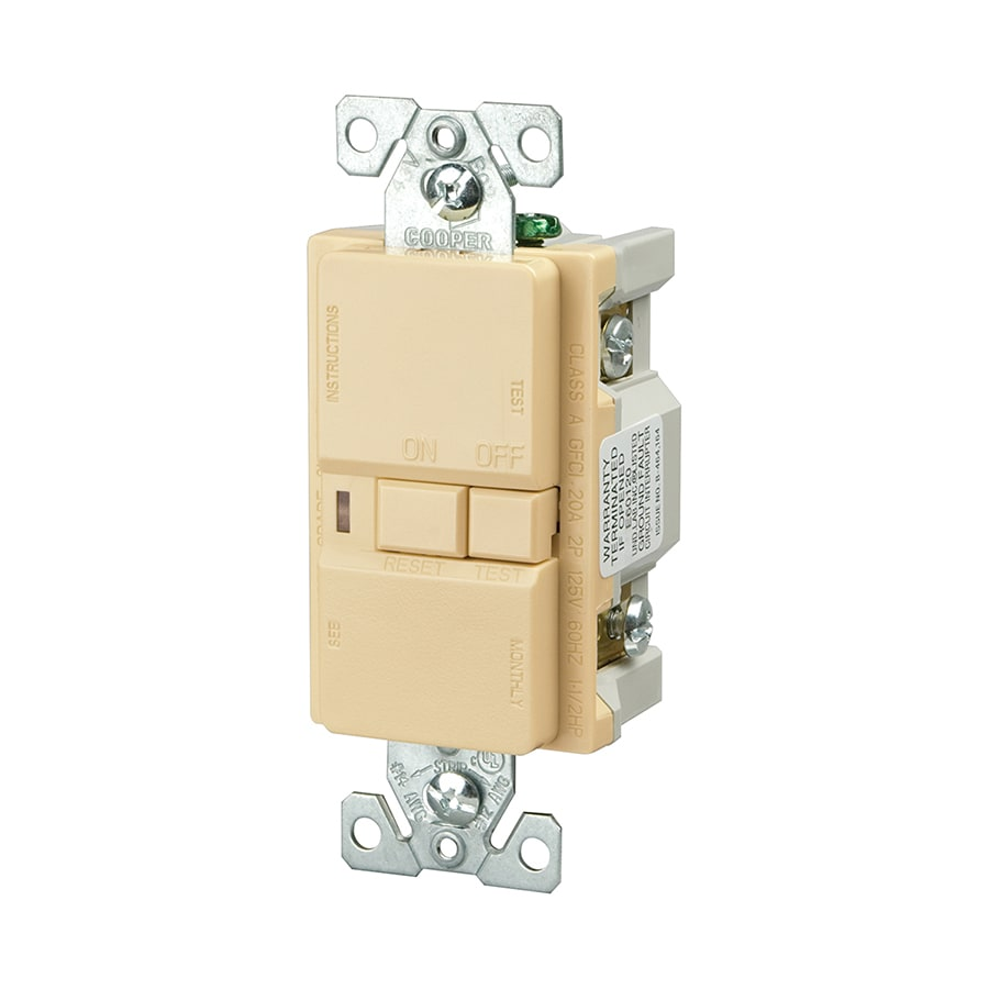 shop cooper wiring devices 20 125 volt ivory gfci decorator at AC Generator Wiring Diagram cooper wiring devices 20 125 volt ivory gfci decorator