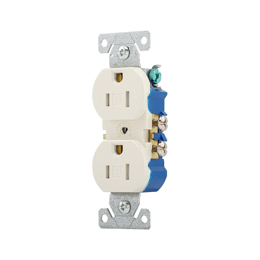 Eaton 10-Pack 15-Amp 125-Volt Light Almond Indoor Duplex Wall Tamper Resistant Outlet