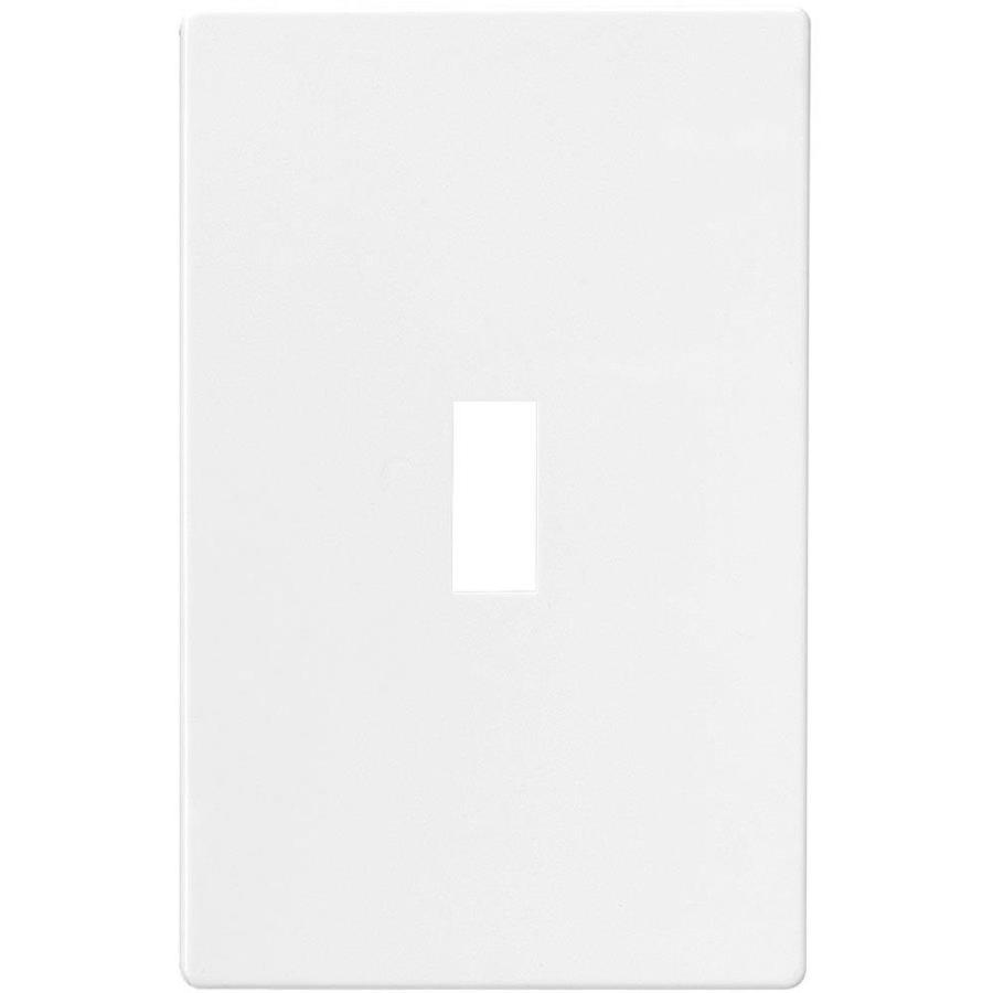Eaton 1-Gang White Single Toggle Wall Plate