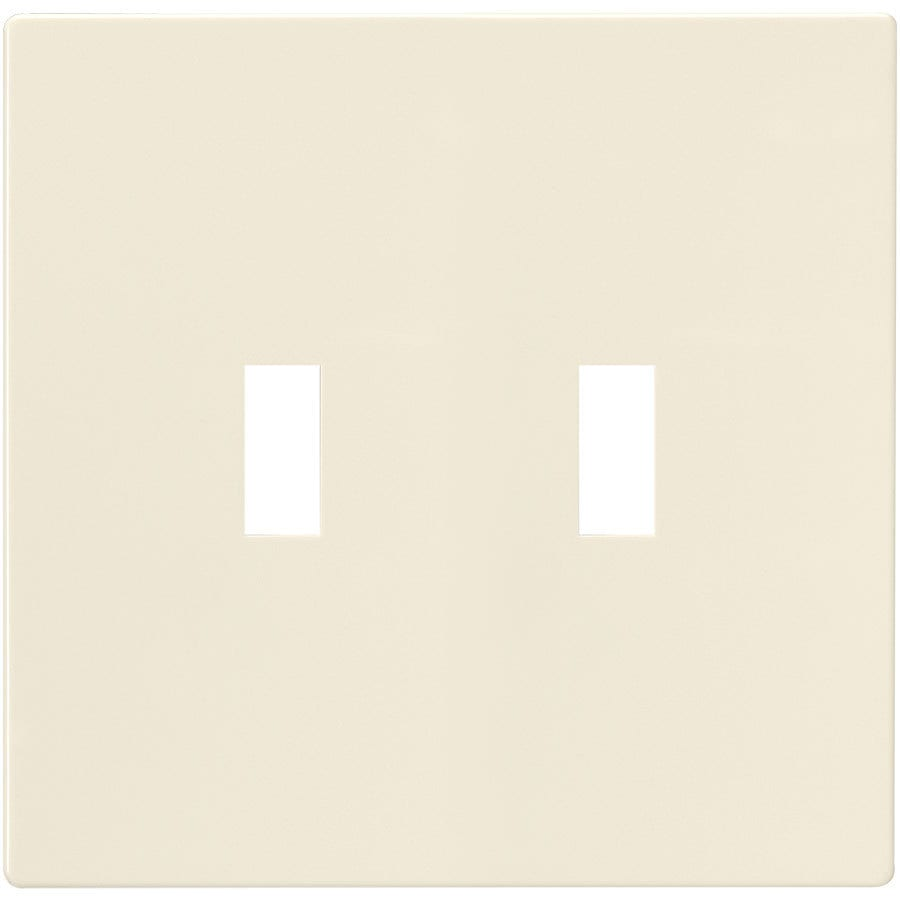 Eaton 2-Gang Light Almond Double Toggle Wall Plate
