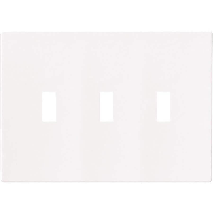 Eaton 3-Gang White Triple Toggle Wall Plate