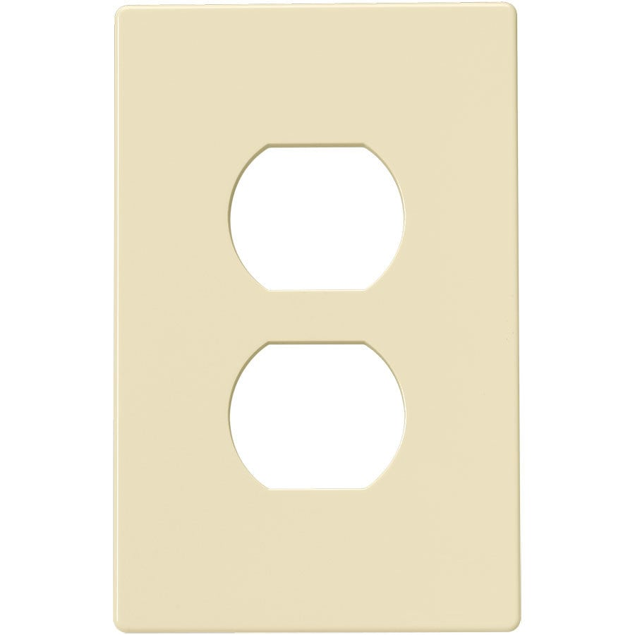 Eaton 1-Gang Almond Single Duplex Wall Plate