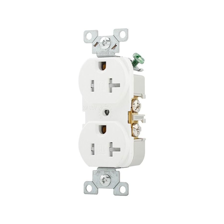 Cooper Wiring Devices 20-Amp 125-Volt White Duplex Tamper Resistant