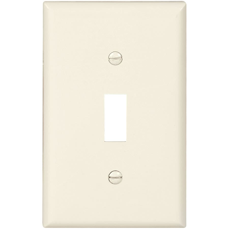 Eaton 10-Pack 1-Gang Light Almond Single Toggle Wall Plates