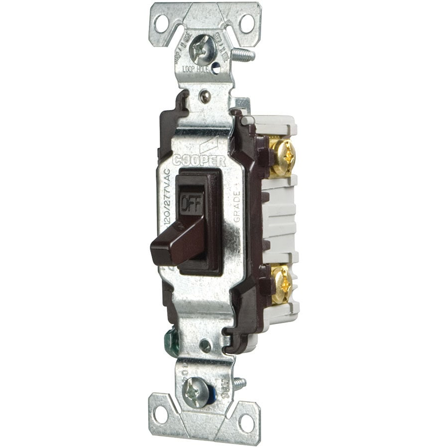 Eaton 15-Amp Single Pole Brown Toggle Indoor Light Switch