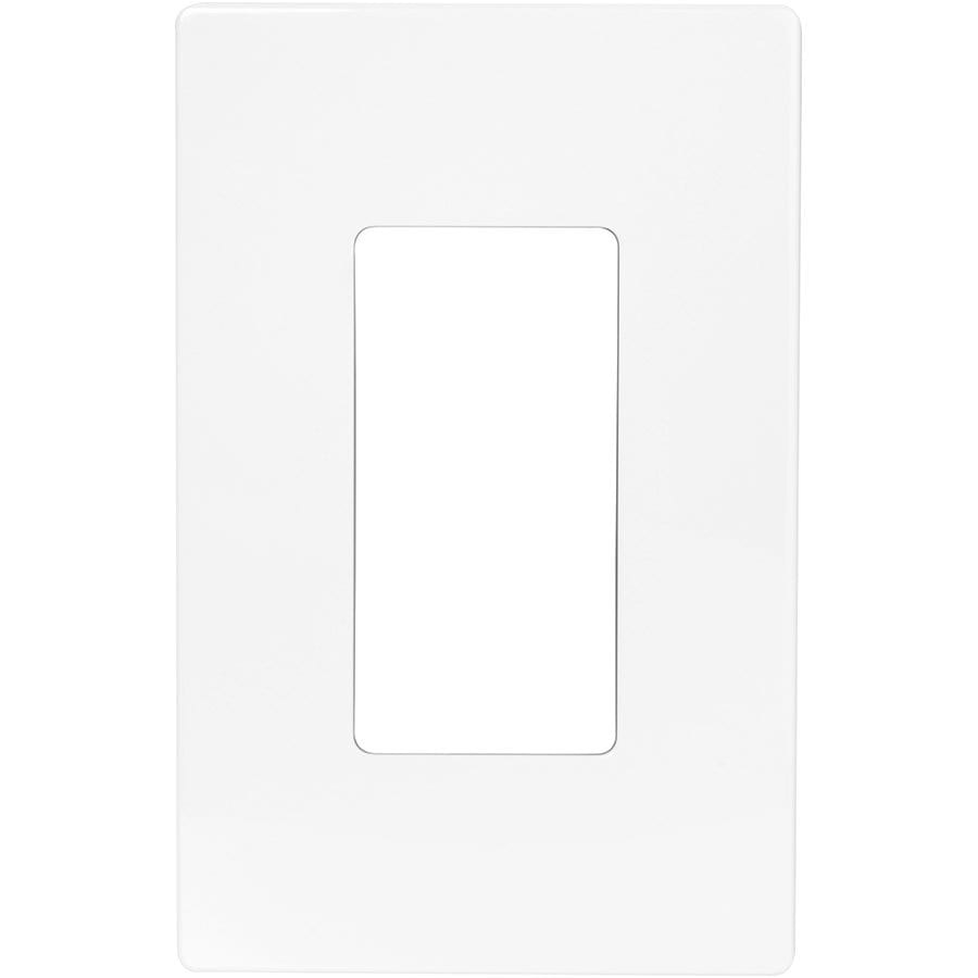 Cooper Wiring Devices Aspire 1-Gang White Satin Decorator Duplex Receptacle Nylon Wall Plate