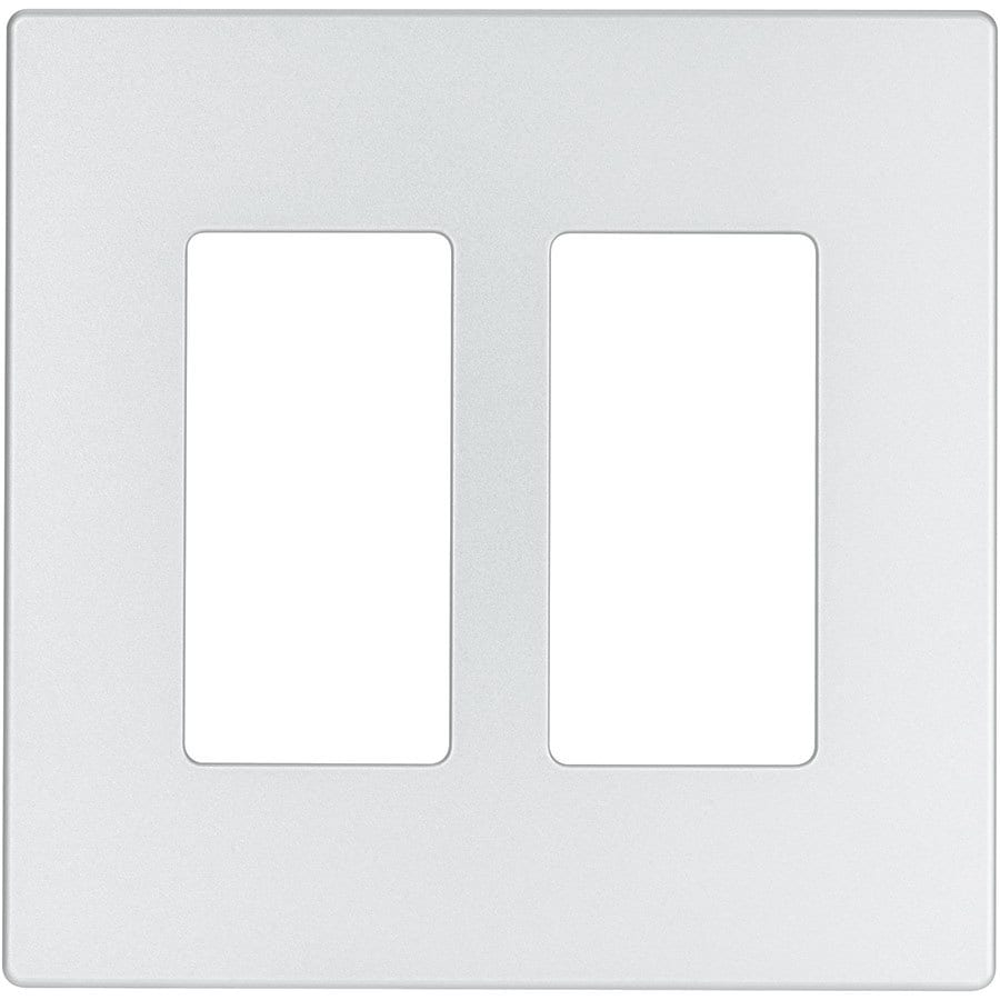 Eaton Aspire 2-Gang Silver Granite Double Decorator Wall Plate