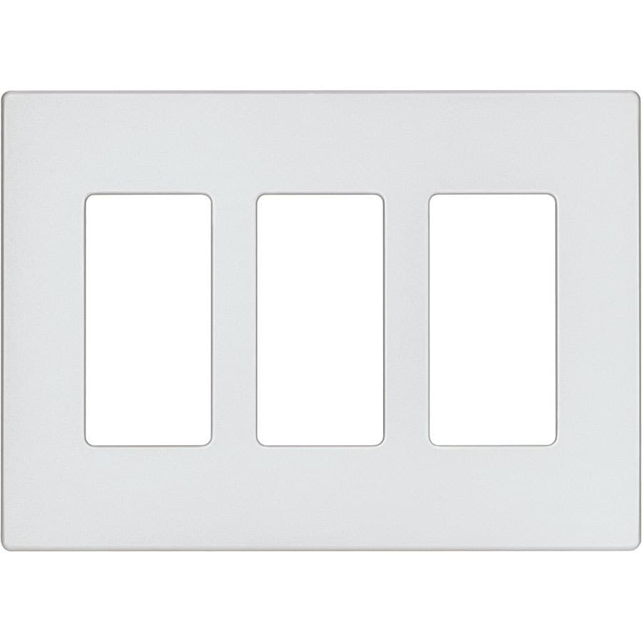 Eaton Aspire 3-Gang Silver Granite Triple Decorator Wall Plate