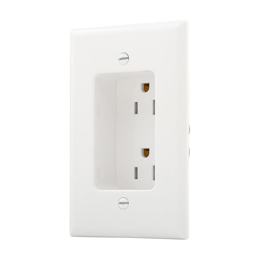 Eaton White 15 Amp Decorator Outlet Residential At Lowes Com
