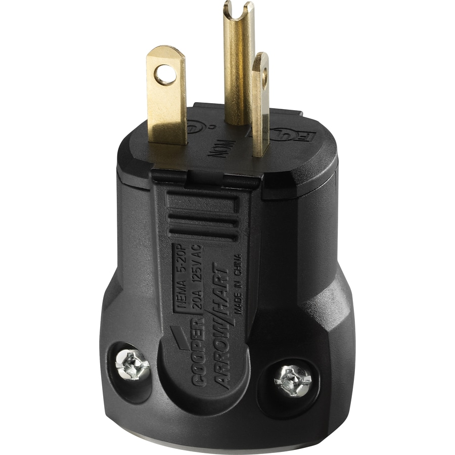 Shop Cooper Wiring Devices 20-Amp 125-Volt Black 3-Wire Grounding ...