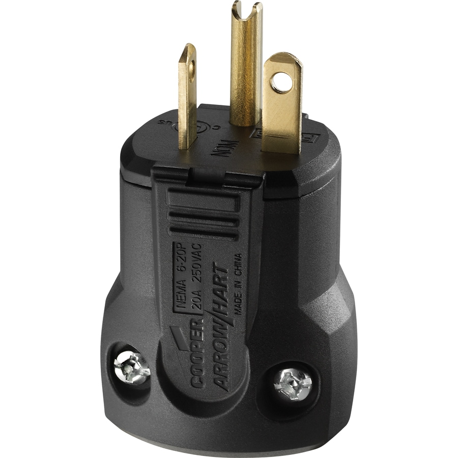 Shop Cooper Wiring Devices 20-Amp 250-Volt Black 3-Wire Grounding ...